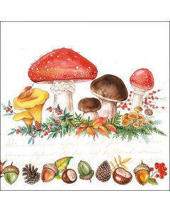 Ambiente Paper Napkins 3-ply Lunch Mushrooms