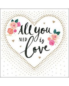 All You Need is Love - 4 Napkins for Decoupage