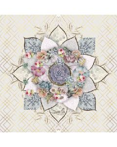 Paper Napkins for Decoupage, 4 Single Lunch Size Paper Napkins, Romee