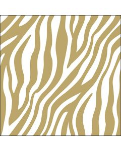 Ambiente Paper Napkins 3-ply Lunch Zebra Stripes Gold