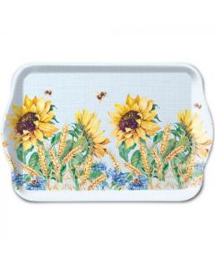 Ambiente Melamine Scatter Tray Sunflower and Wheat Blue