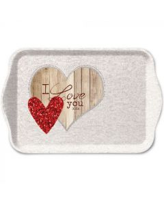 Ambiente Melamine Scatter Tray I Love You