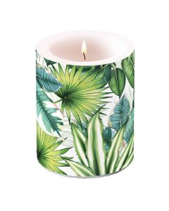 Ambiente Pillar Candle Tropical Leaves