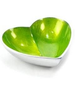 Globe Home Recycled Aluminium Bowl Small Heart Lime