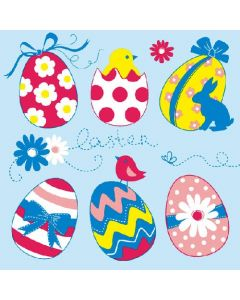 Easter Egg Collection Blue - 4 Napkins for Decoupage