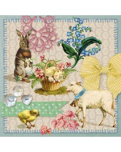 Easter Collage - 4 Napkins for Decoupage