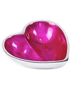 Globe Home Recycled Aluminium Bowl Small Heart Pink