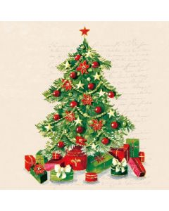 Paper Napkins for Decoupage, 4 Single Lunch Size Paper Napkins, Christmas Tree