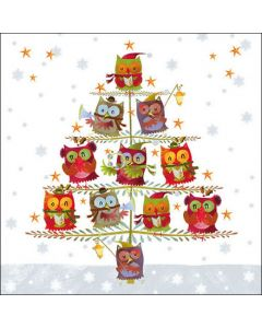Ambiente Paper Napkins 3-ply Lunch Owl Christmas Tree