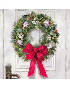 Ambiente Paper Napkins 3-ply Lunch White Wreath