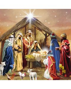 Ambiente Paper Napkins 3-ply Lunch Nativity Collage