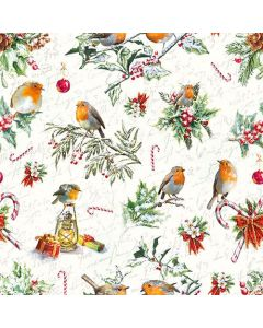 Paper Napkins for Decoupage, 4 Single Lunch Size Paper Napkins, Christmas Ornaments