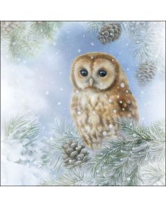 Ambiente Paper Napkins 3-ply Lunch Tawny Owl