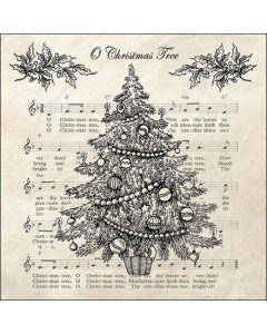 Ambiente Paper Napkins 3-ply Lunch O Christmas Tree Black