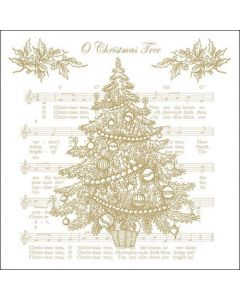 Ambiente Paper Napkins 3-ply Lunch O Christmas Tree Gold