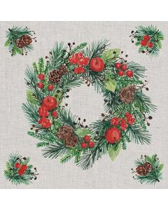 Ambiente Paper Napkins 3-ply Lunch Wreath On Linen