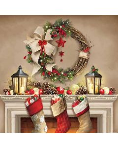 Ambiente Paper Napkins 3-ply Lunch Wreath And Socks