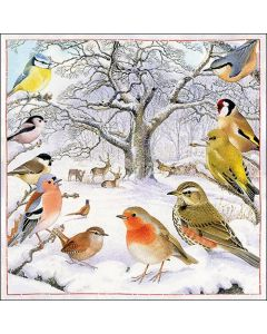 Bird Meeting - 4 Napkins for Decoupage