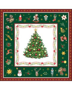 Christmas Evergreen Green - 4 Napkins for Decoupage