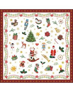 Ambiente Paper Napkins 3-ply Lunch Ornaments All Over Red