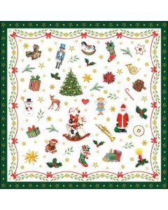Ambiente Paper Napkins 3-ply Lunch Ornaments All Over Green