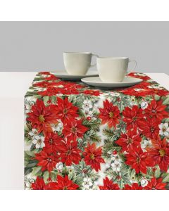 ,Table Runner - Poinsettia All Over - Ambiente