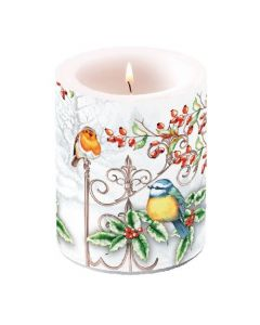 Ambiente Pillar Candle Birds and Holly