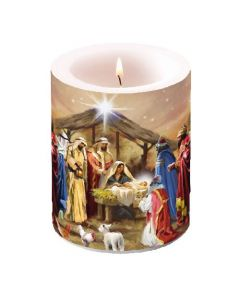 Ambiente Pillar Candle Nativity Collage