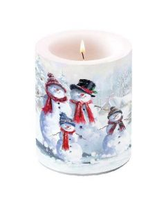 Ambiente Pillar Candle Snowman with Hat