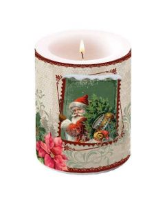 Ambiente Pillar Candle Santa Stamp
