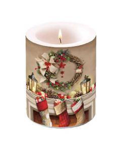 Ambiente Pillar Candle Wreath and Sock