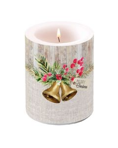 Ambiente Pillar Candle Christmas Bells