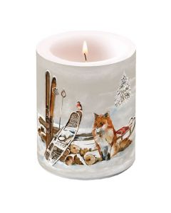 Ambiente Pillar Candle Fox And Bird