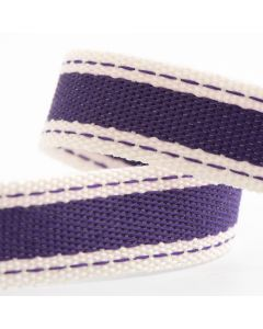 ,Italian Options Cotton Twill Ribbon Aubergine (Purple)