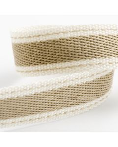 Italian Options Cotton Twill Ribbon Natural