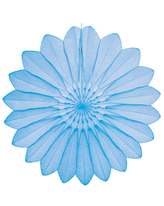 Tigers on the Loose Paper Decoration, 67cm Paper Fan Light Blue 011