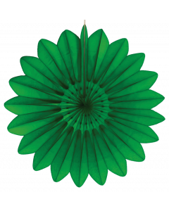 Tigers on the Loose Paper Decoration, 67cm Paper Fan Green 003