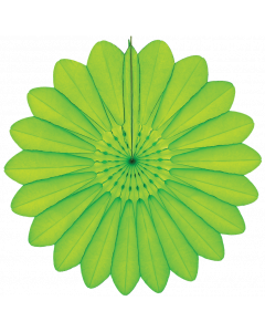 Yellow Green 102 -  Paper Fan 67cm