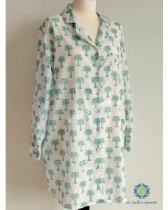 An Indian Summer Nightshirt - Palm Trees