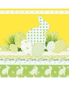 A Touch of Easter - Yellow - 4 Napkins for Decoupage