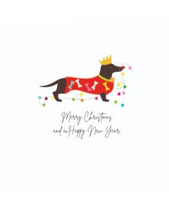 Five Dollar Shake Boxed Christmas Cards Merry Christmas And A Happy New Year Dog Pack of 6