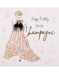 Five Dollar Shake Birthday Card Happy Birthday Time for Champagne