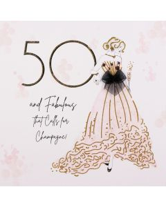 Five Dollar Shake Birthday Card 50 and Fabulous
