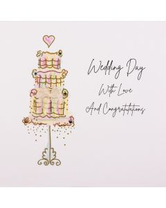 Five Dollar Shake Wedding Day with Love and Congratulations Wedding Card