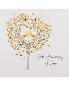Five Dollar Shake Golden Anniversary with Love Anniversary Card