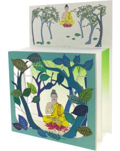 Buddha framed in Green #BX219 - Magic Box Card