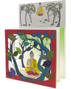 Buddha framed in Red, #BX222 - Magic Box Card