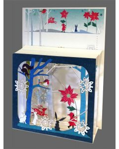 Forever Cards Magic Box Christmas Card Child and Poinsettia