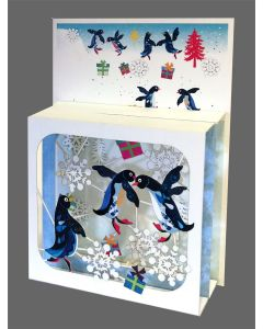Forever Cards Magic Box Christmas Card Penguins