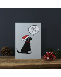 Black Labrador - Sweet William Christmas Card